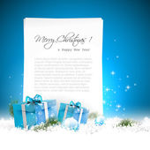 Blue Christmas background — Stockvector
