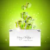 Modern Christmas greeting card — Vecteur