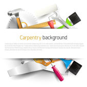 Carpentry background — Vector de stock