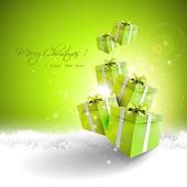 Modern Christmas greeting card — Vettoriale Stock
