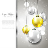Silver-gold Christmas background — Stock Photo
