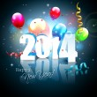 Happy New Year 2014 — Vector de stock #33611529