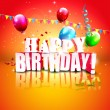 Realistic colorful Birthday background — Imagen vectorial