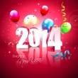 Happy New Year 2014 — Stock Vector #33611575