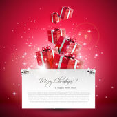Modern Christmas greeting card — Wektor stockowy