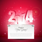 New Year 2014 greeting card — Vector de stock