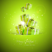 Christmas gifts - vector background — Vector de stock