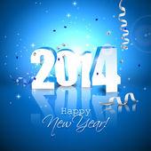 Tarjeta de felicitación de año nuevo de 2014 — Vector de stock