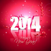 Feliz ano novo 2014 — Vetorial Stock