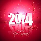 šťastný nový rok 2014 — Stock vektor