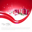 Modern red Christmas background — Stock Vector
