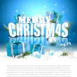 Stock Vector: Modern Christmas background with copyspace