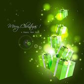Modern Christmas greeting card — Stock Vector