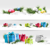 Christmas borders — Vector de stock