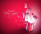 Felice nuovo anno 2014 — Vettoriale Stock