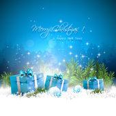 Blue Christmas greeting card — Stock Vector