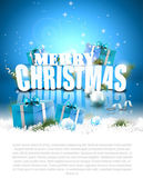 Modern Christmas background with copyspace — Vecteur