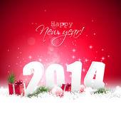 Gott nytt år 2014 — Stockvektor