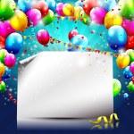 Modern birthday background — Stock Vector