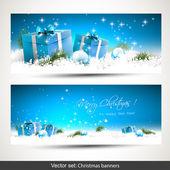 Kerstmis banners — Stockvector