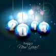 New Year 2014 greeting card — Stock Vector