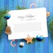 Christmas greeting card — Vettoriali Stock