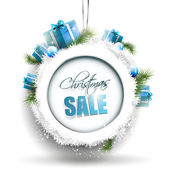 Christmas sale — Vector de stock