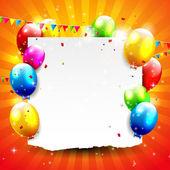 день рождения фон — Cтоковый вектор