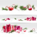Christmas borders — Stock Vector