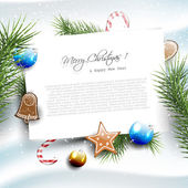 Christmas greeting card with copyspace — Stock Vector