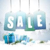 Christmas sale - vector background — Vector de stock