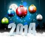 Happy New Year 2014 — Stock Vector #36823493