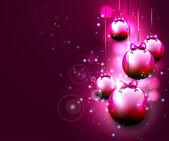 Luxury pink Christmas background — Stock Vector