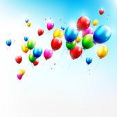 Vliegende ballons — Stockvector