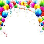 Globos de cumpleaños — Vector de stock