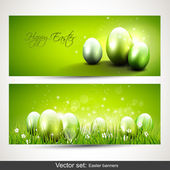 Modern Easter banners — Stock Vector