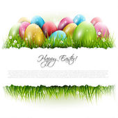 Easter background with copyspace — Stock Vector