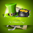 St. Patrick's Day greeting card — Stock Vector #39246237
