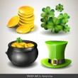 Stock Vector: St Patrick's Day icons