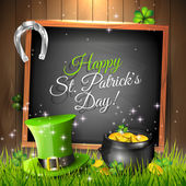 St. Patrick's Day greeting card — Stock vektor