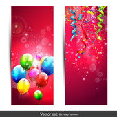 Birthday banners — Stock Vector