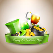 St Patrick's Day - vector icon — Stock Vector