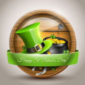 St Patrick's Day - vector icon — Stok Vektör