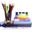 Foto Stock: School supplies