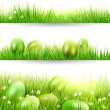 Easter borders — Stock Vector