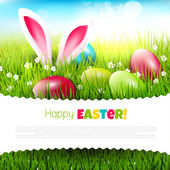 Easter greeting card — Stock Vector