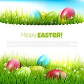 Easter greeting card — Vettoriale Stock