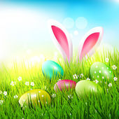 Easter greeting card — Stockvector