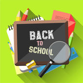 Back to School - Flat design background — Stock Vector