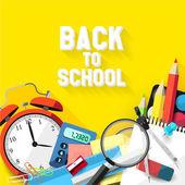 Back to school - Vector flat design illustration — Stock Vector
